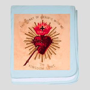 Heart_of_Jesus_sq baby blanket