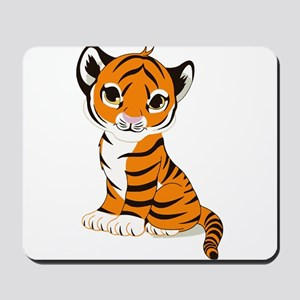 Tiger Cub Sitting and Watching Mousepad