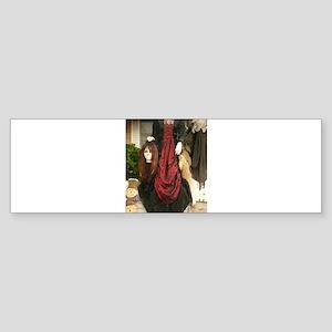 Halloween headless Victorian costum Bumper Sticker