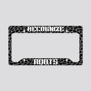 Recognize Roots License Plate Holder