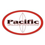 Pacific Glassworks Oval Sticker