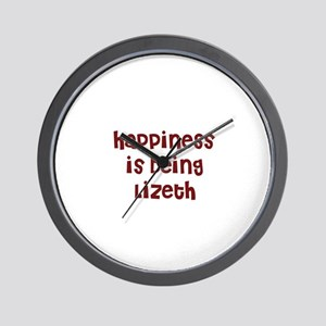 happiness is being Lizeth Wall Clock
