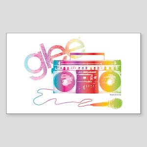 Glee Boombox Sticker (Rectangle)