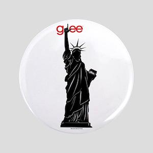 """Statue of Libert-Glee 3.5"""" Button"""
