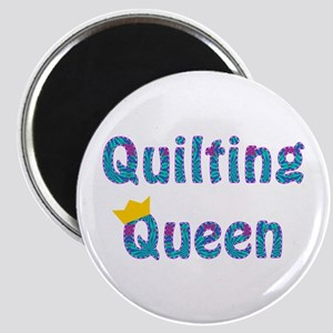 Colorful Quilting Queen Magnet