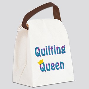 Colorful Quilting Queen Canvas Lunch Bag