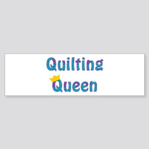 Colorful Quilting Queen Sticker (Bumper)