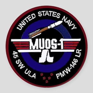MUOS-1 Round Car Magnet