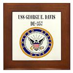 USS GEORGE E. DAVIS Framed Tile
