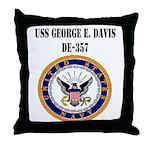 USS GEORGE E. DAVIS Throw Pillow