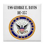 USS GEORGE E. DAVIS Tile Coaster