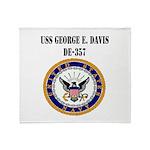 USS GEORGE E. DAVIS Throw Blanket