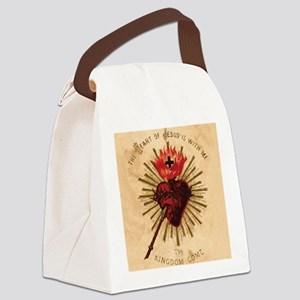 Heart_of_Jesus_sq Canvas Lunch Bag