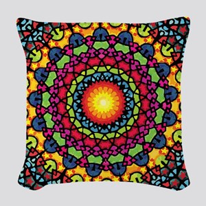 Warmth of a Thousand Suns Woven Throw Pillow