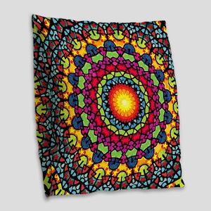 Warmth of a Thousand Suns Burlap Throw Pillow