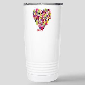 Glee Heart Stainless Steel Travel Mug
