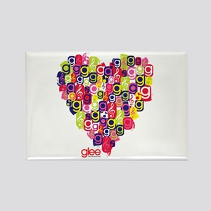 Glee Heart Rectangle Magnet