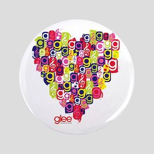 """Glee Heart 3.5"""" Button"""