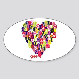 Glee Heart Sticker (Oval)