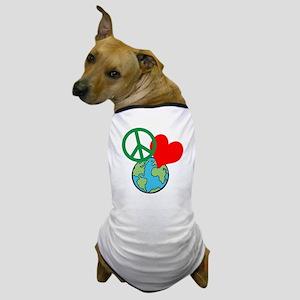 Peace Love Earth Dog T-Shirt