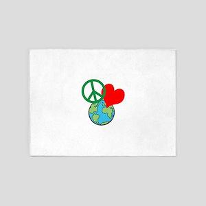 Peace Love Earth 5'x7'Area Rug