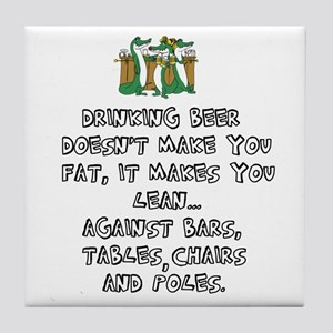 Beer Drinking Tile Coaster