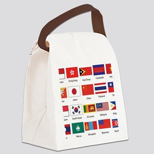 Asian Flags Canvas Lunch Bag