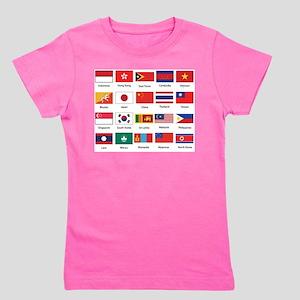 Asian Flags Girl's Tee