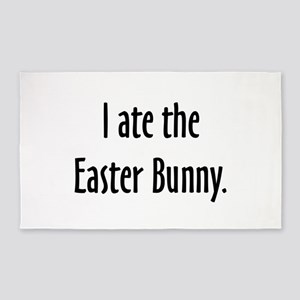 I ate the Easter Bunny. Area Rug