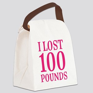 I Lost 100 Pounds Canvas Lunch Bag