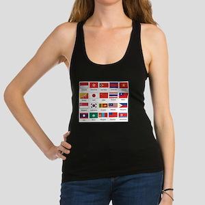 Asian Flags Racerback Tank Top
