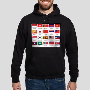Asian Flags Hoodie (dark)