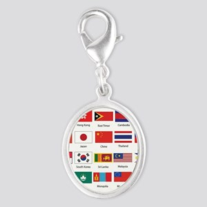 Asian Flags Charms