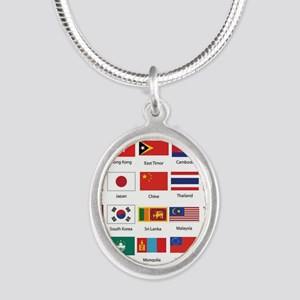Asian Flags Necklaces