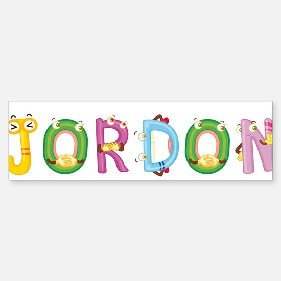 Jordon Bumper Bumper Bumper Sticker