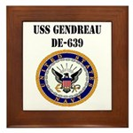 USS GENDREAU Framed Tile