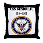 USS GENDREAU Throw Pillow