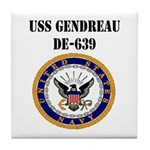 USS GENDREAU Tile Coaster