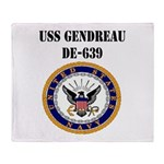 USS GENDREAU Throw Blanket