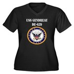 USS GENDREAU Women's Plus Size V-Neck Dark T-Shirt