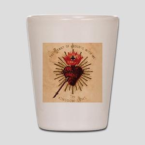 Heart_of_Jesus_sq Shot Glass