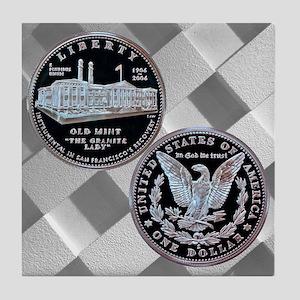 San Francisco Old Mint Dollar Tile Coaster