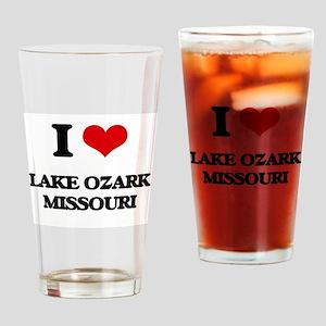 I love Lake Ozark Missouri Drinking Glass