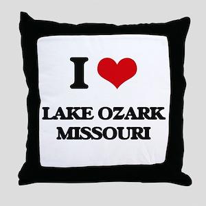 I love Lake Ozark Missouri Throw Pillow