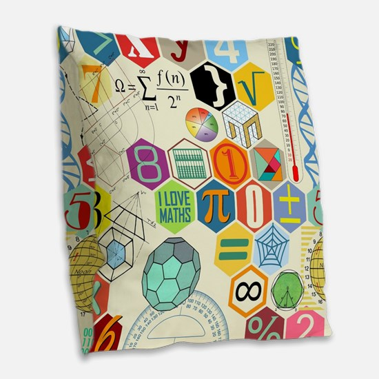 Cute Math Burlap Throw Pillow