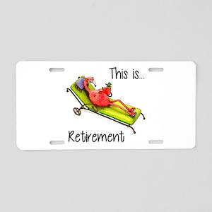 Retirment Aluminum License Plate