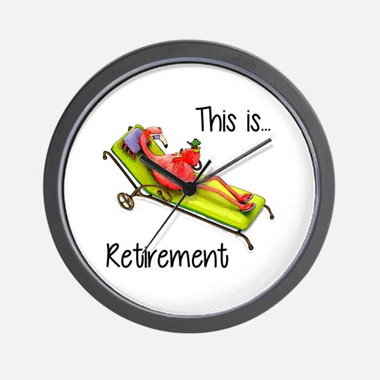 Retirment Wall Clock