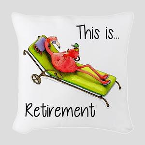 Retirment Woven Throw Pillow