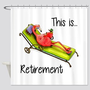 Retirment Shower Curtain