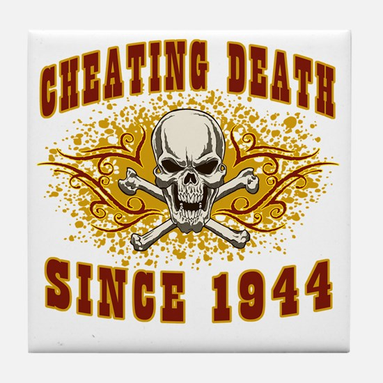 cheating death 1944 Tile Coaster
